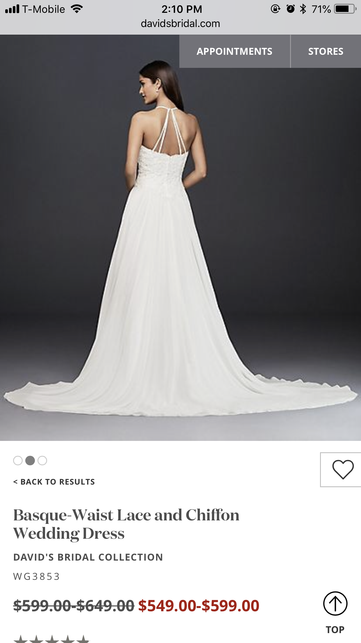 Basque-waist Lace And Chiffon Wedding Dress