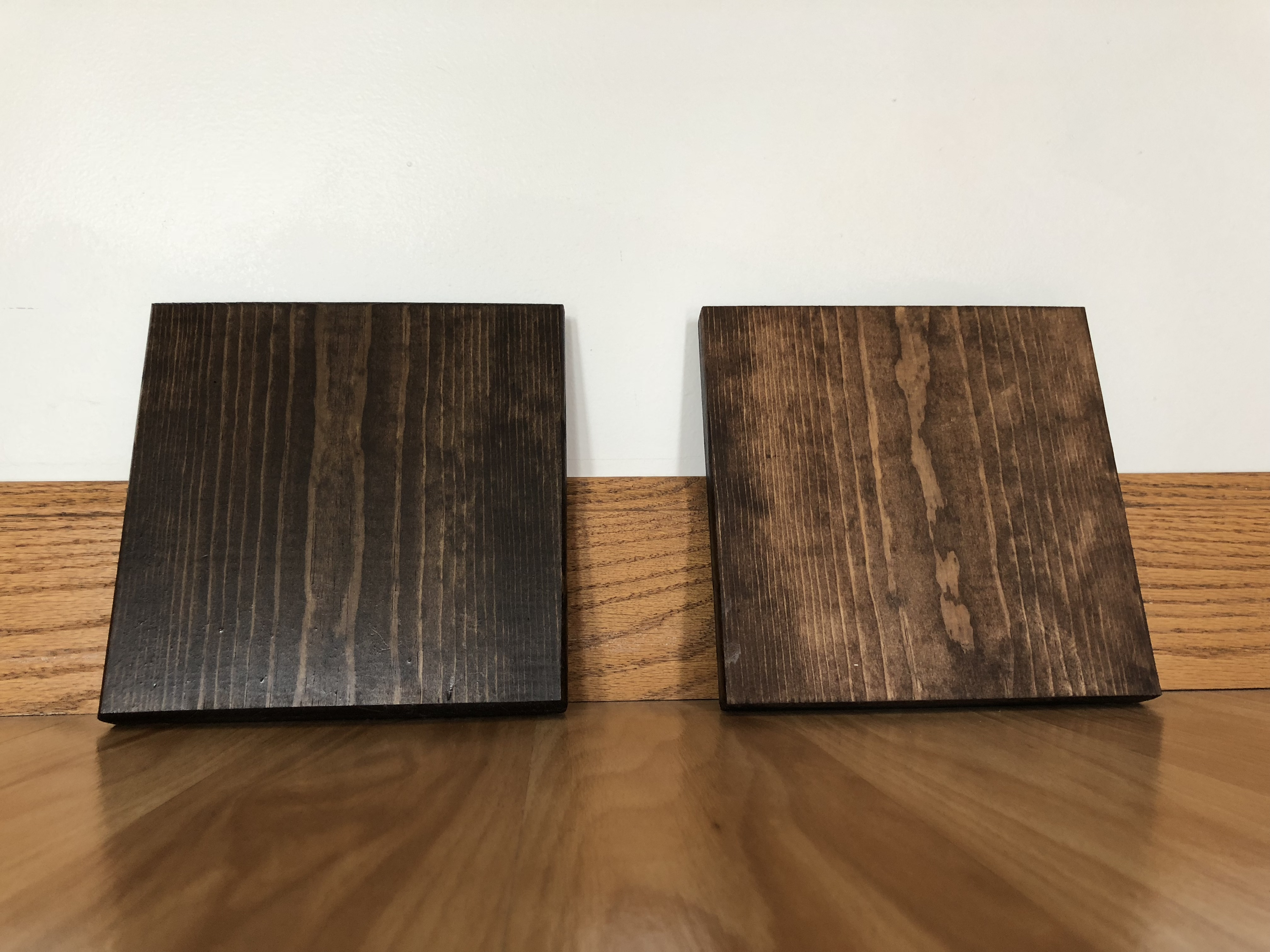 Stained Wooden Blocks For Table Centerpieces