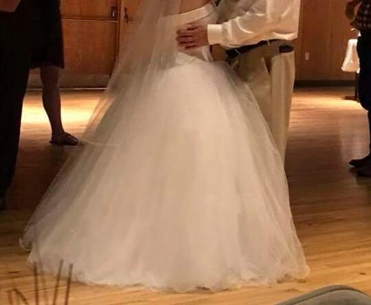 David\'s Bridal - Davids Bridal Cupcake Ball Gown Wedding Dress ...