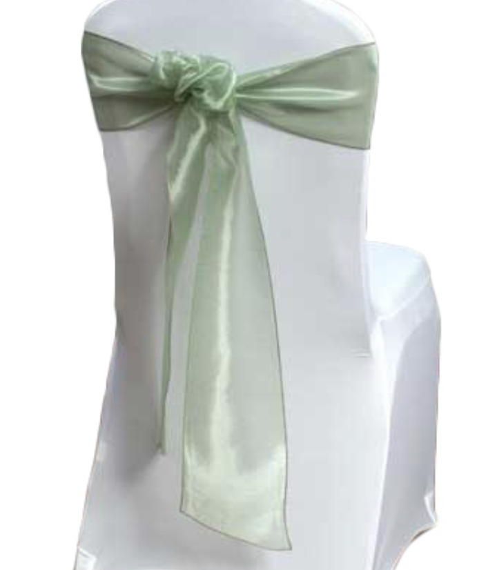 Sage Green Chair Sashes