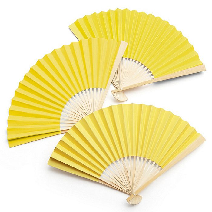 (24) Yellow Paper Fans