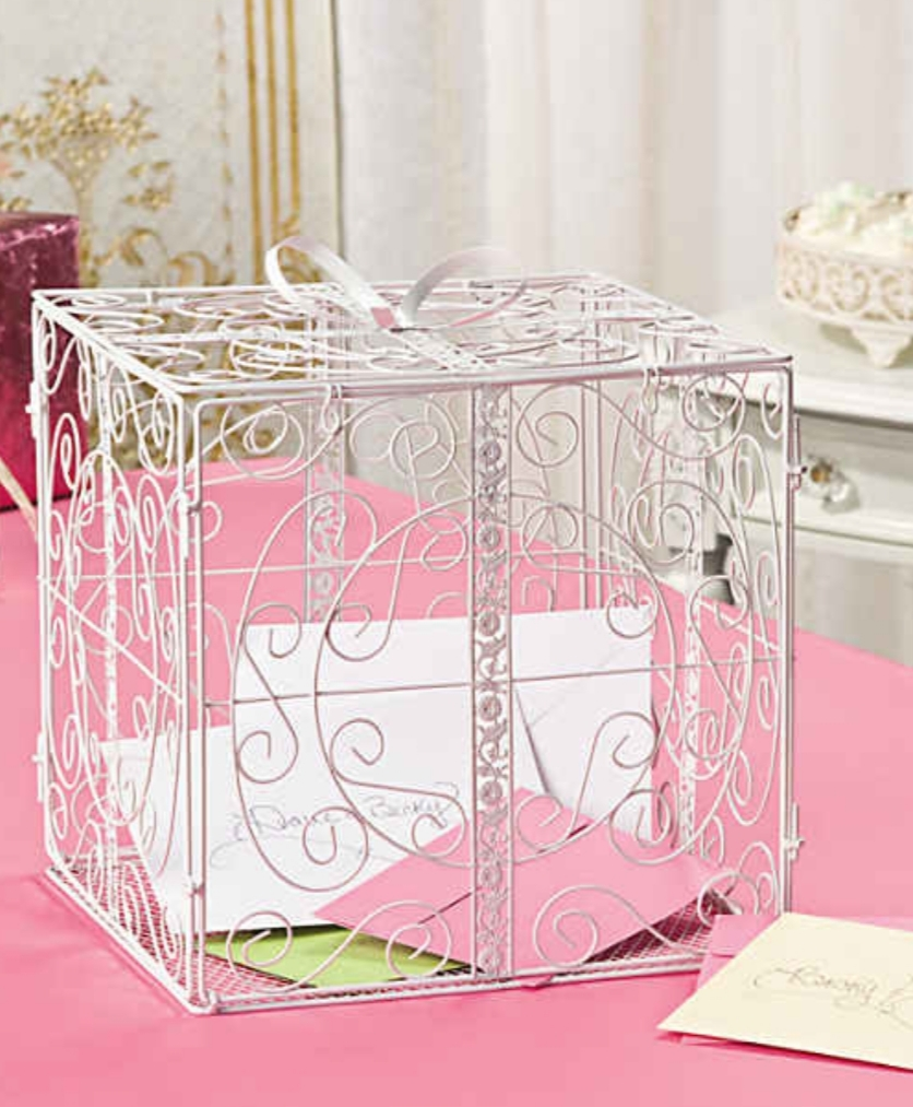 Gift Shaped Cage-style Card Box
