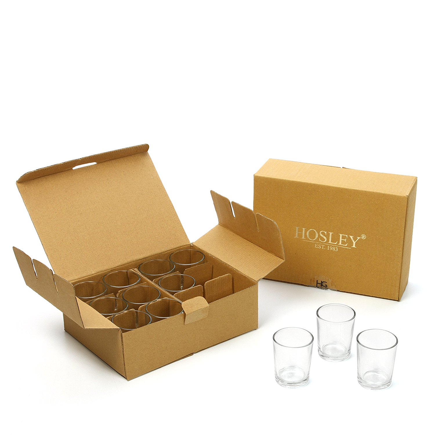 Hosley Set Of 70 Crystal Clear Votive/tea Light Glass Candle Holders