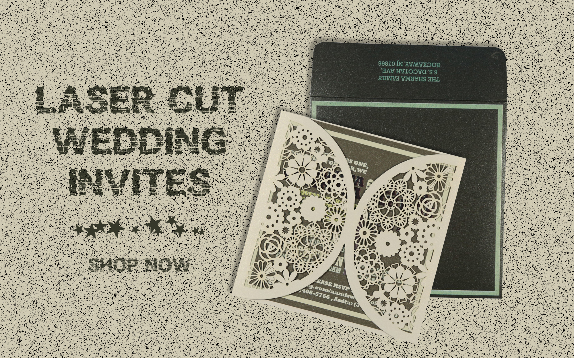 Set The Stage With Laser Cut Wedding Invitation Cards