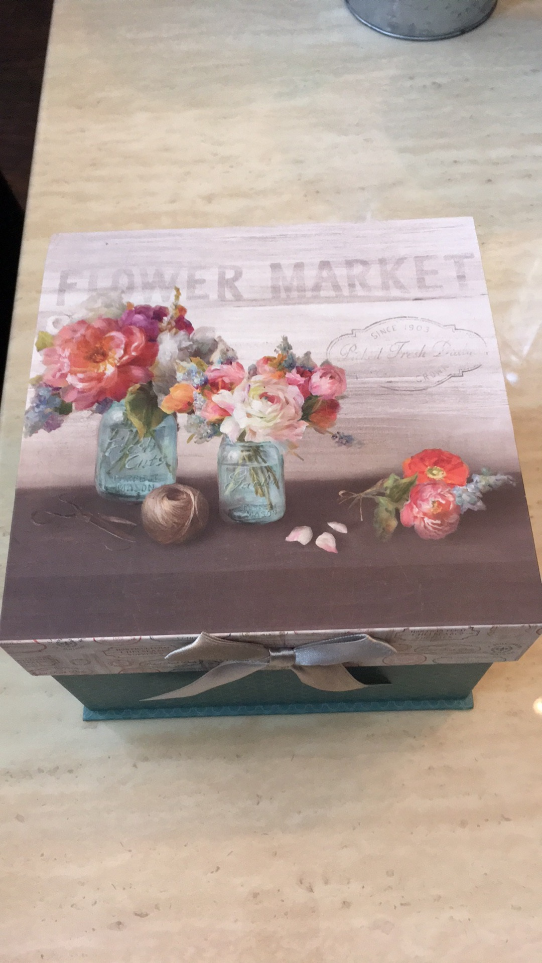 Flower Market Box For Bathroom Supplies