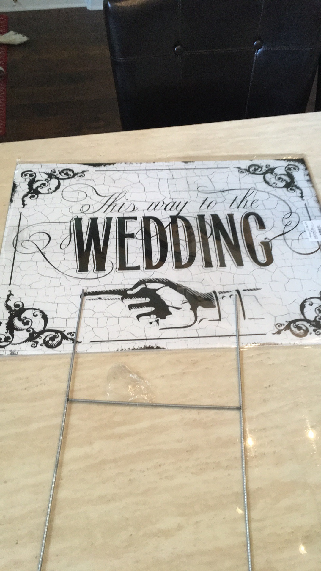 Two Sided Wedding Yard Sign