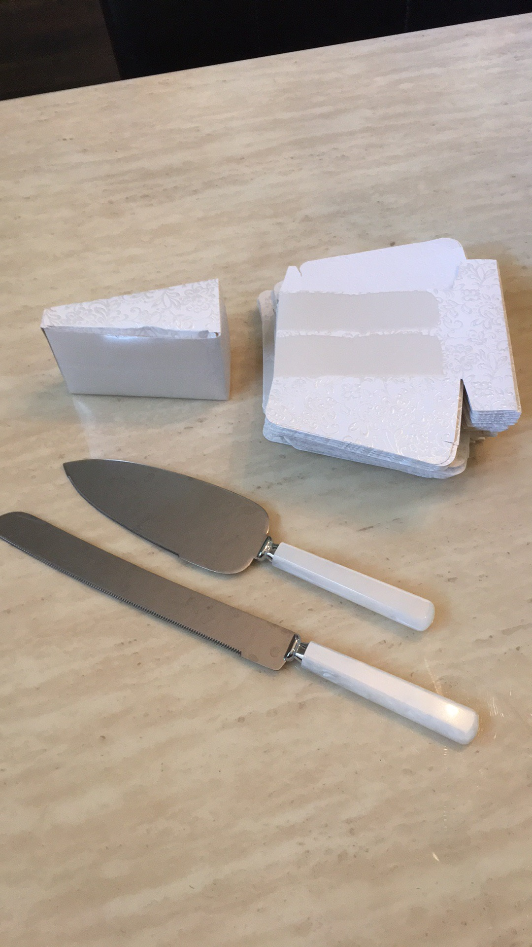 Cake Serving Set And Cake Slice Boxes