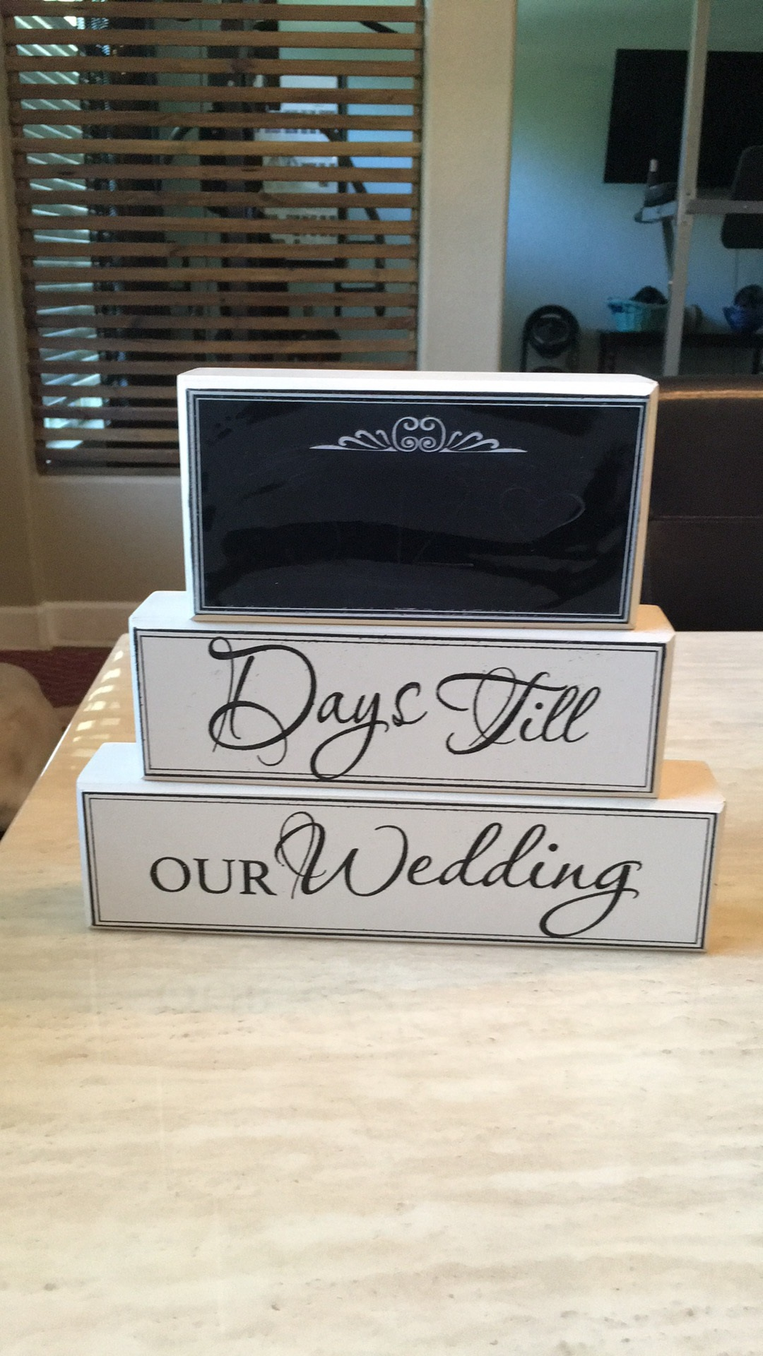 Days Until Our Wedding Sign