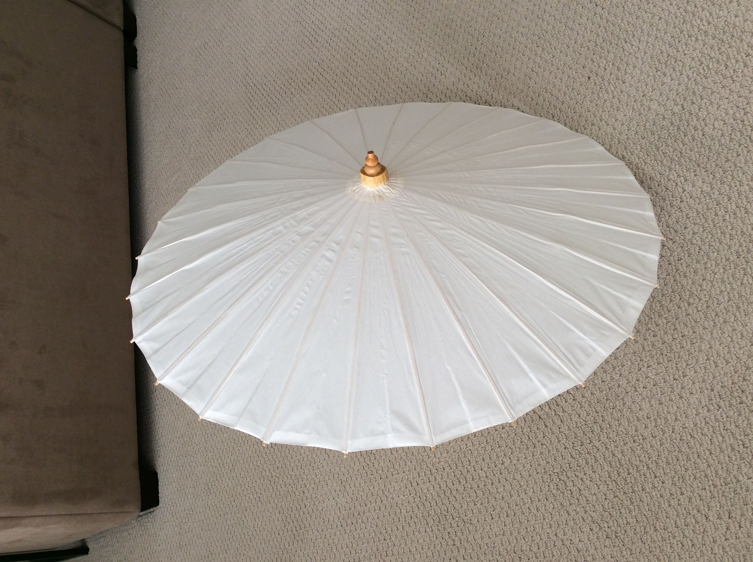Asian Paper Umbrellas (white) Set Of 4