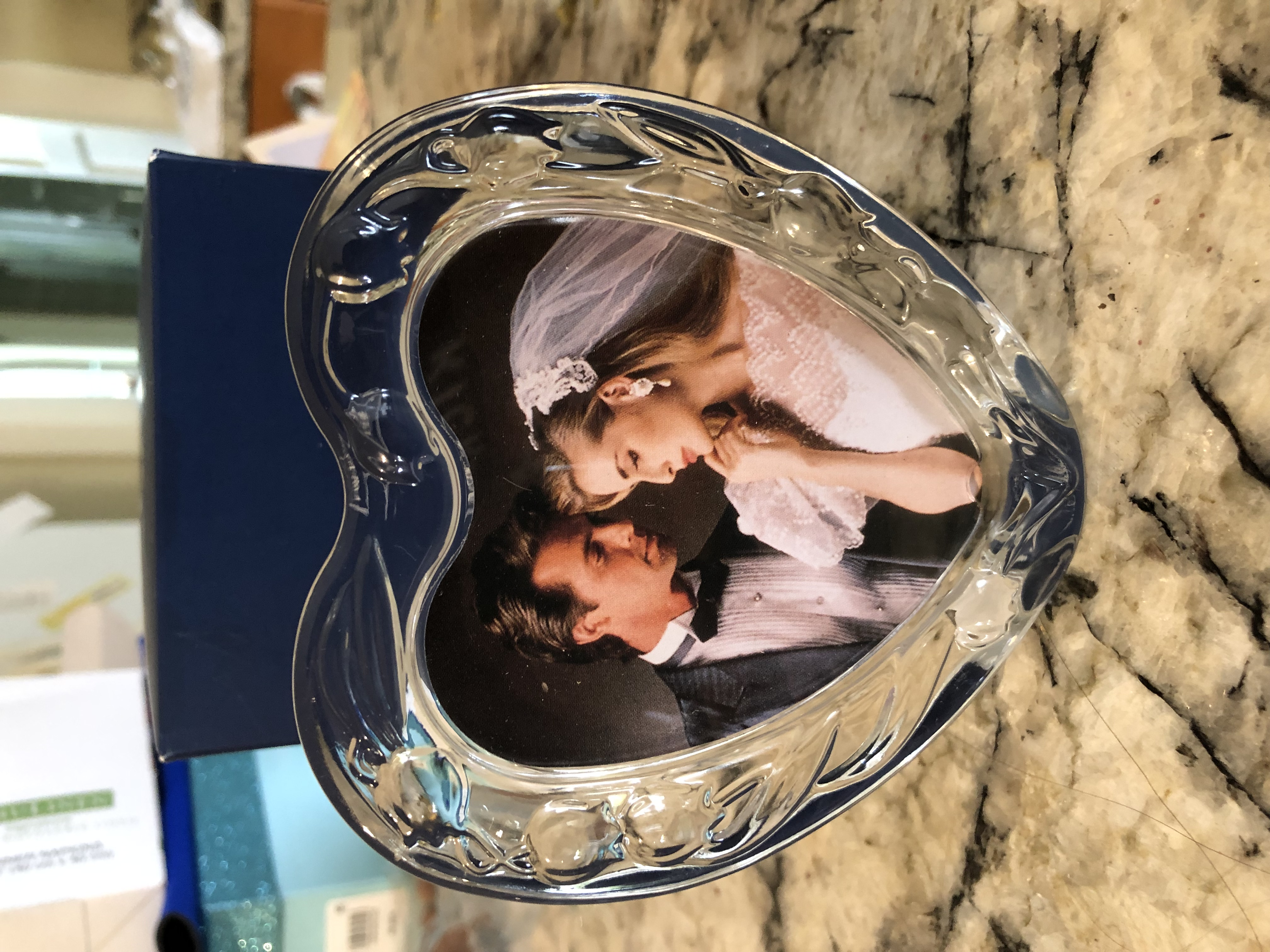 Crystal Heart Picture Frame
