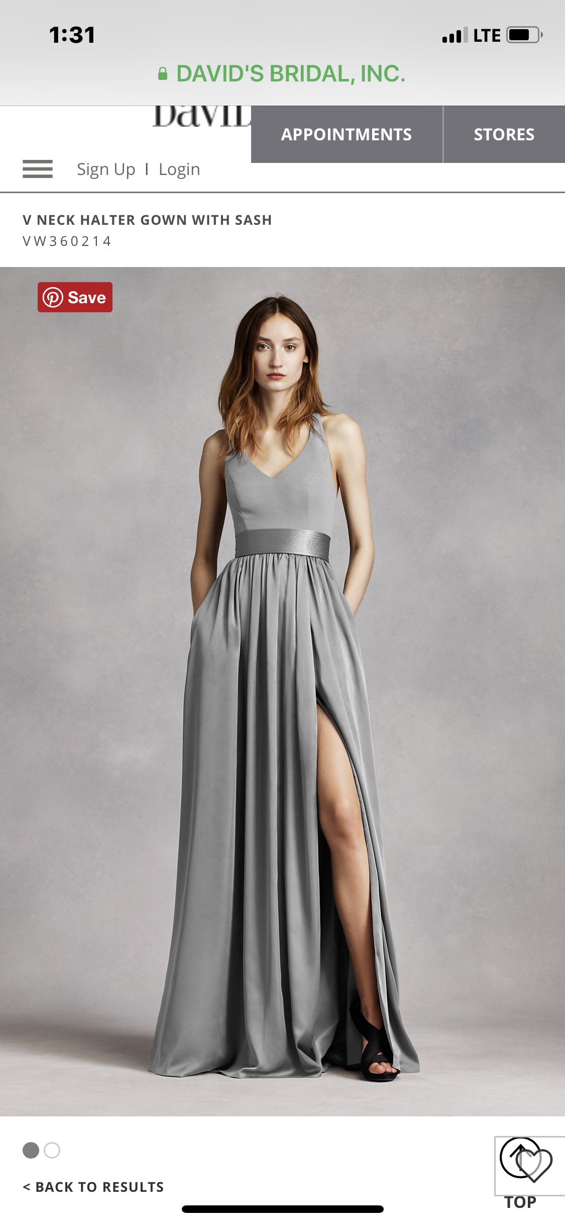 Vera Wang - Bridesmaid Dress
