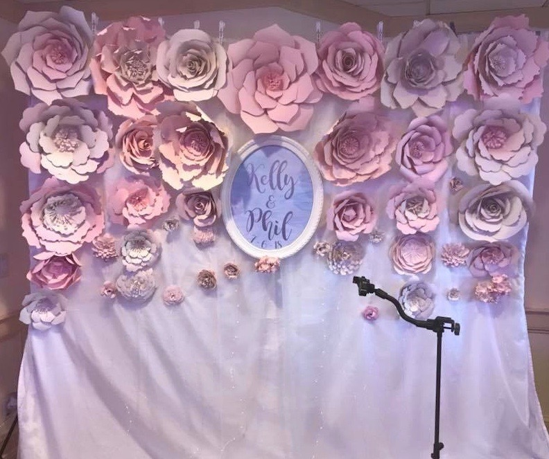 Photo Booth Flower Backdrop