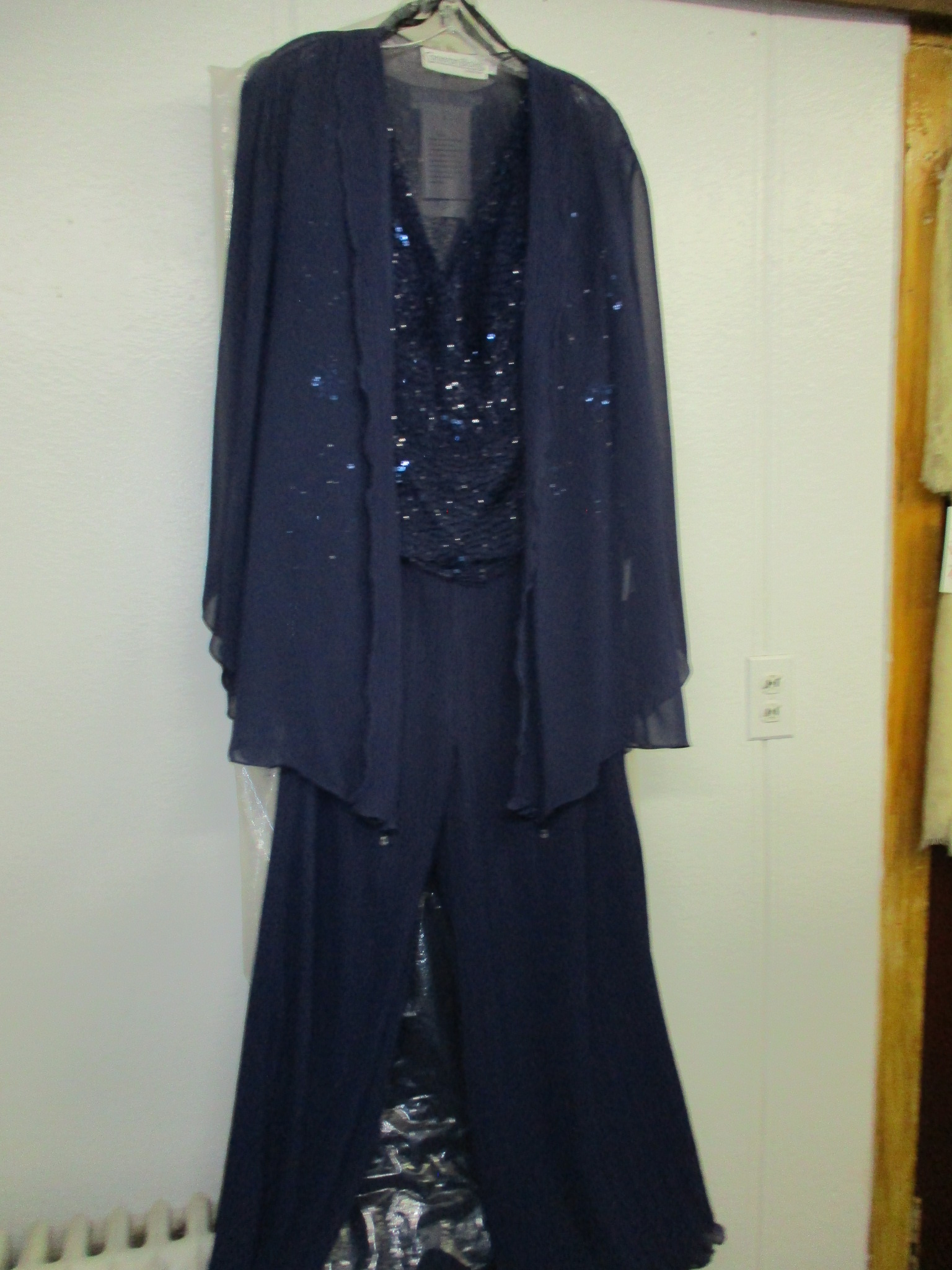 Mon Cheri - 3 Piece Mother's Navy Pant Suit 18w