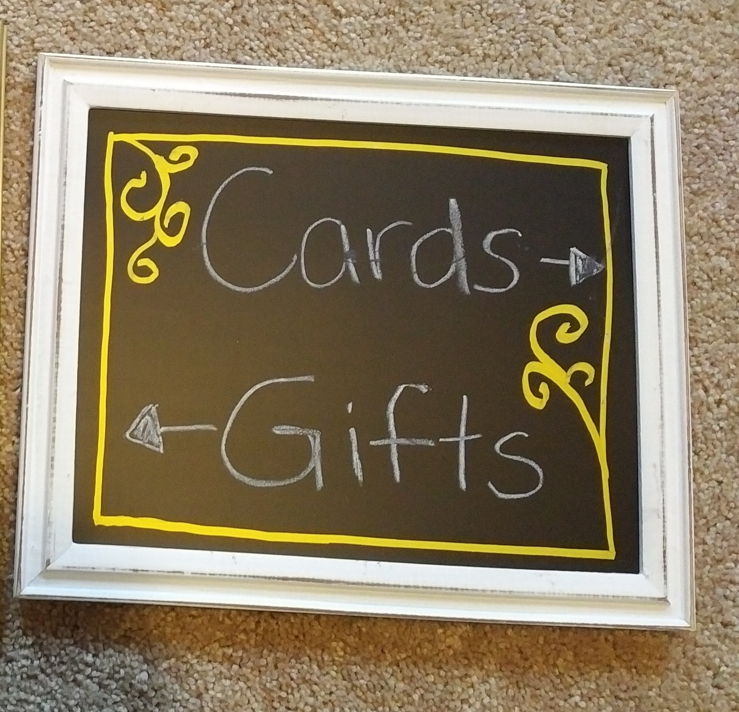 Wedding Reception Chalkboard Sign