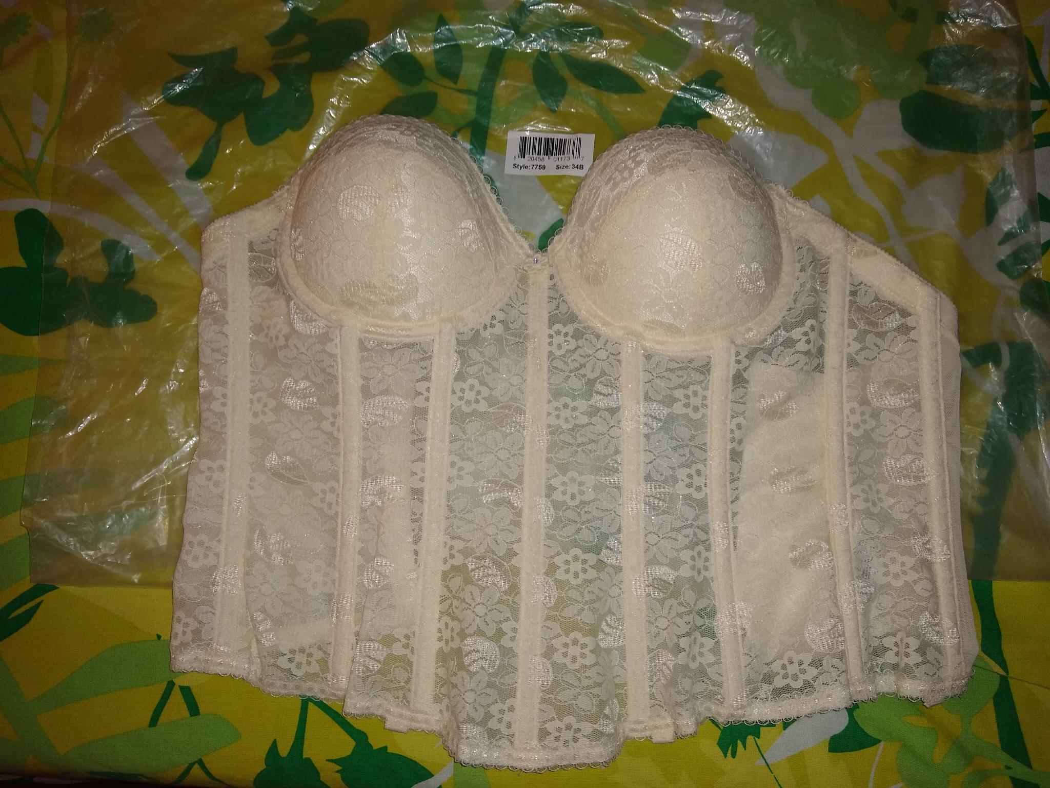Ella - New Never Used Ivory Lacy Push Up Bodice 34b