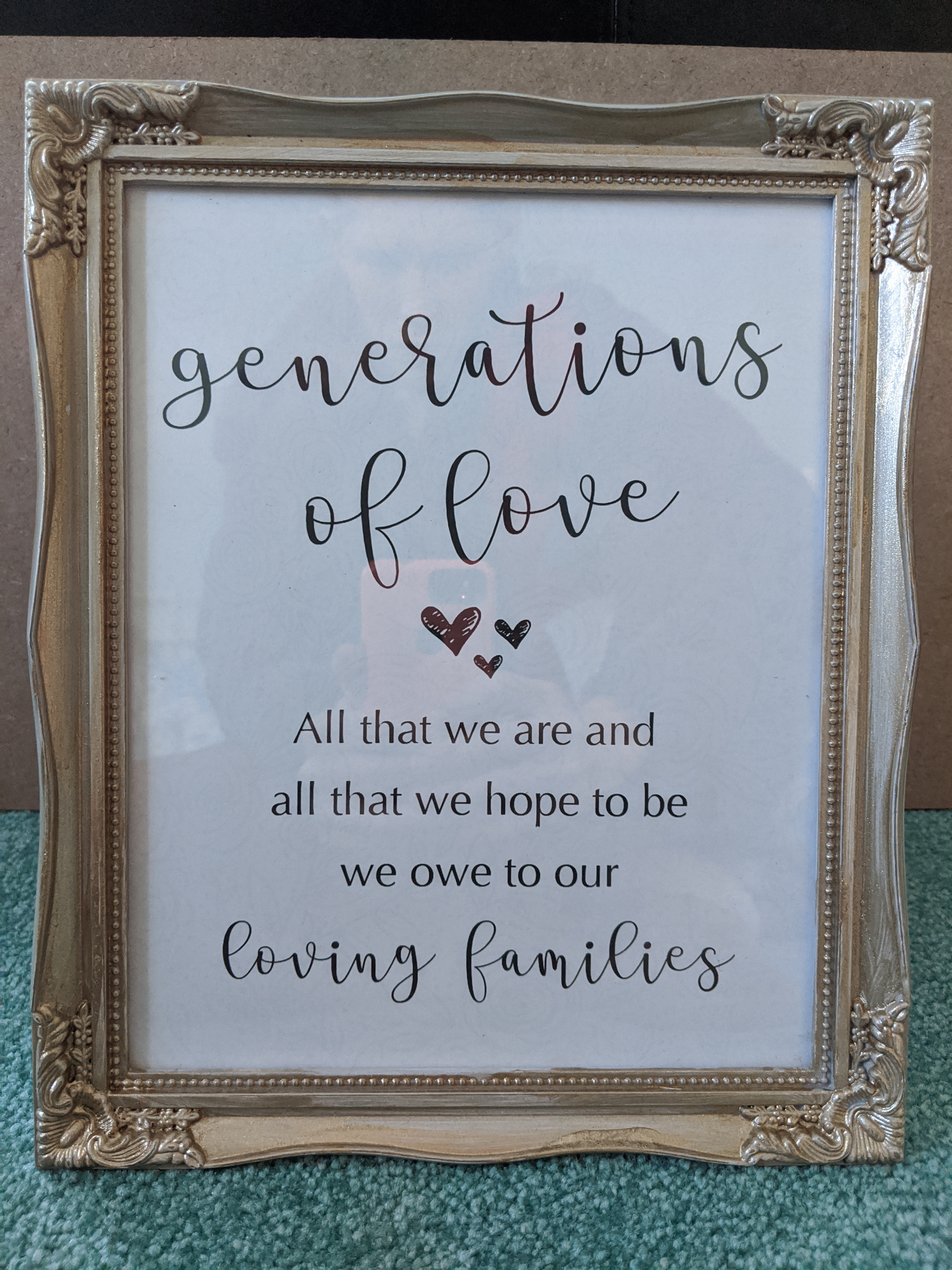 Generations Of Love Sign