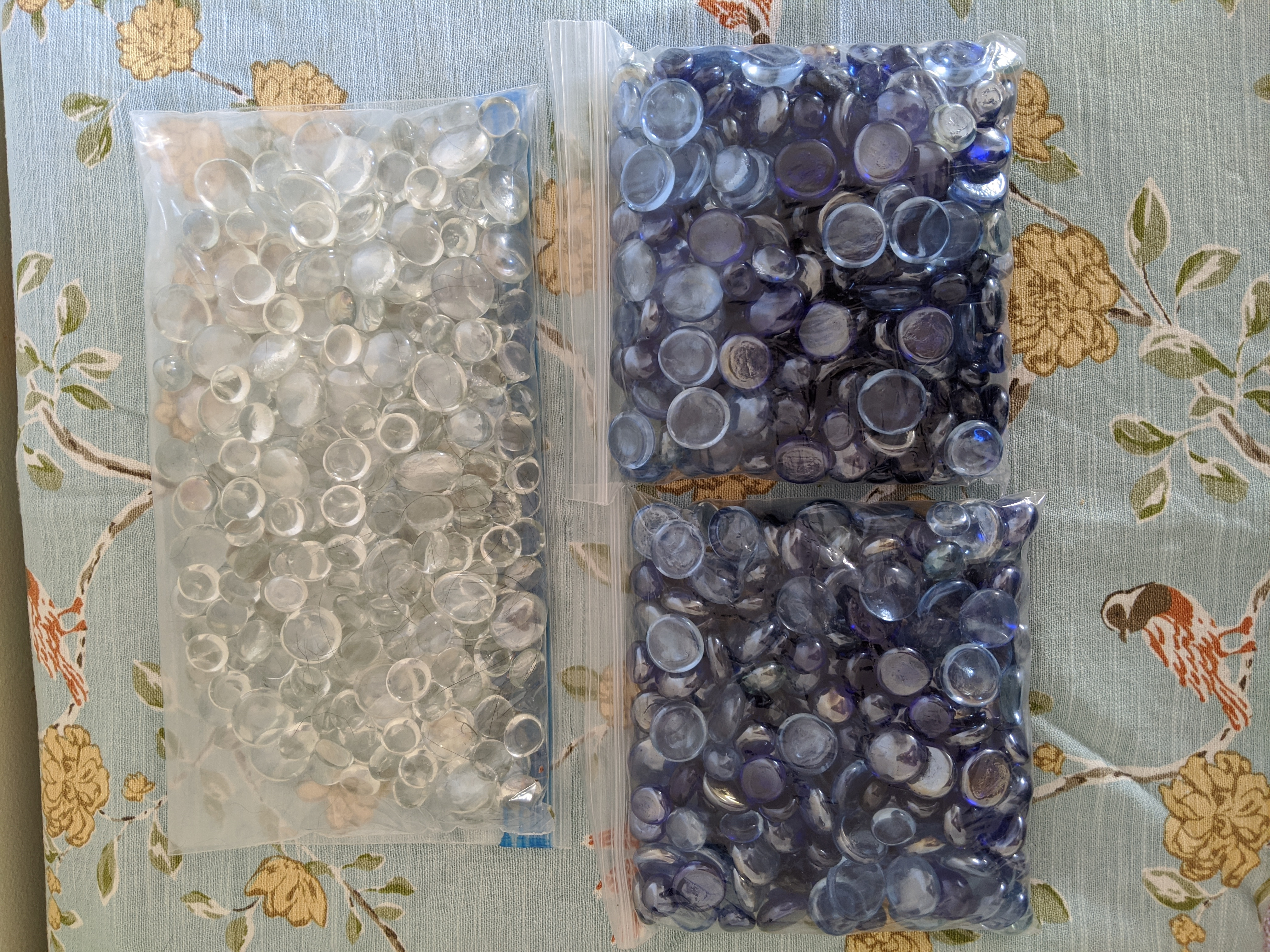Blue And White Glass Stones