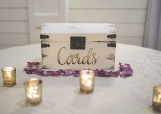 Distressed Wooden Card Box