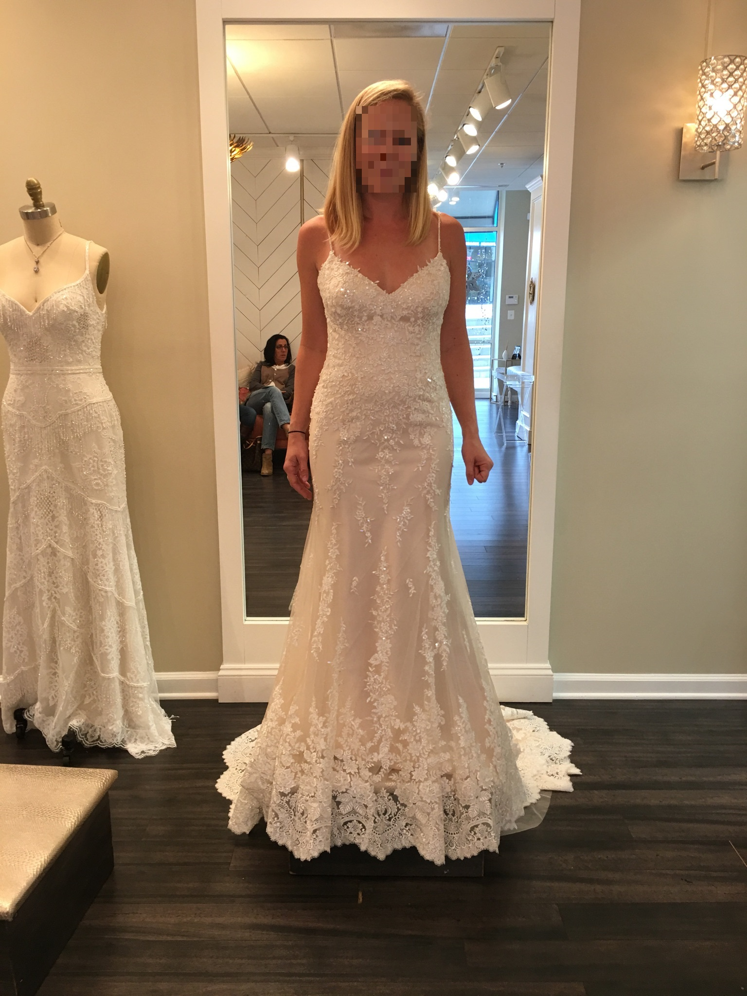 Maggie Sottero Lace Ivorychampagne Wedding Dress Size 4