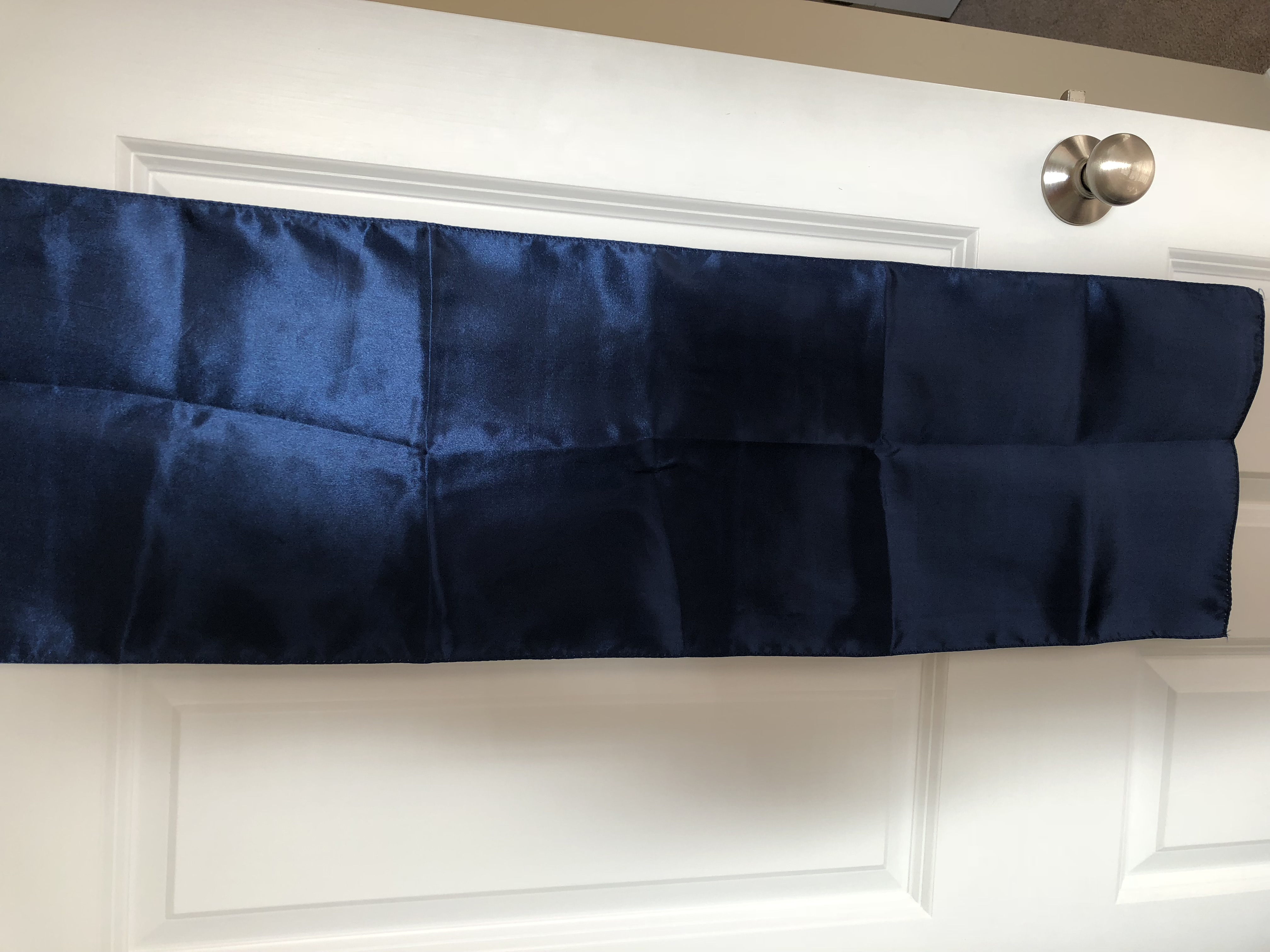 Navy Blue Satin Table Runners
