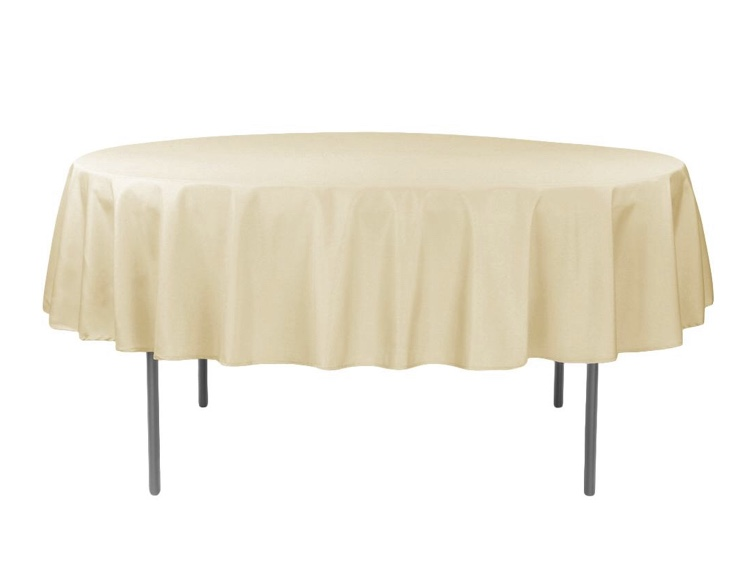 "90"" Round Polyester Nude Linens"