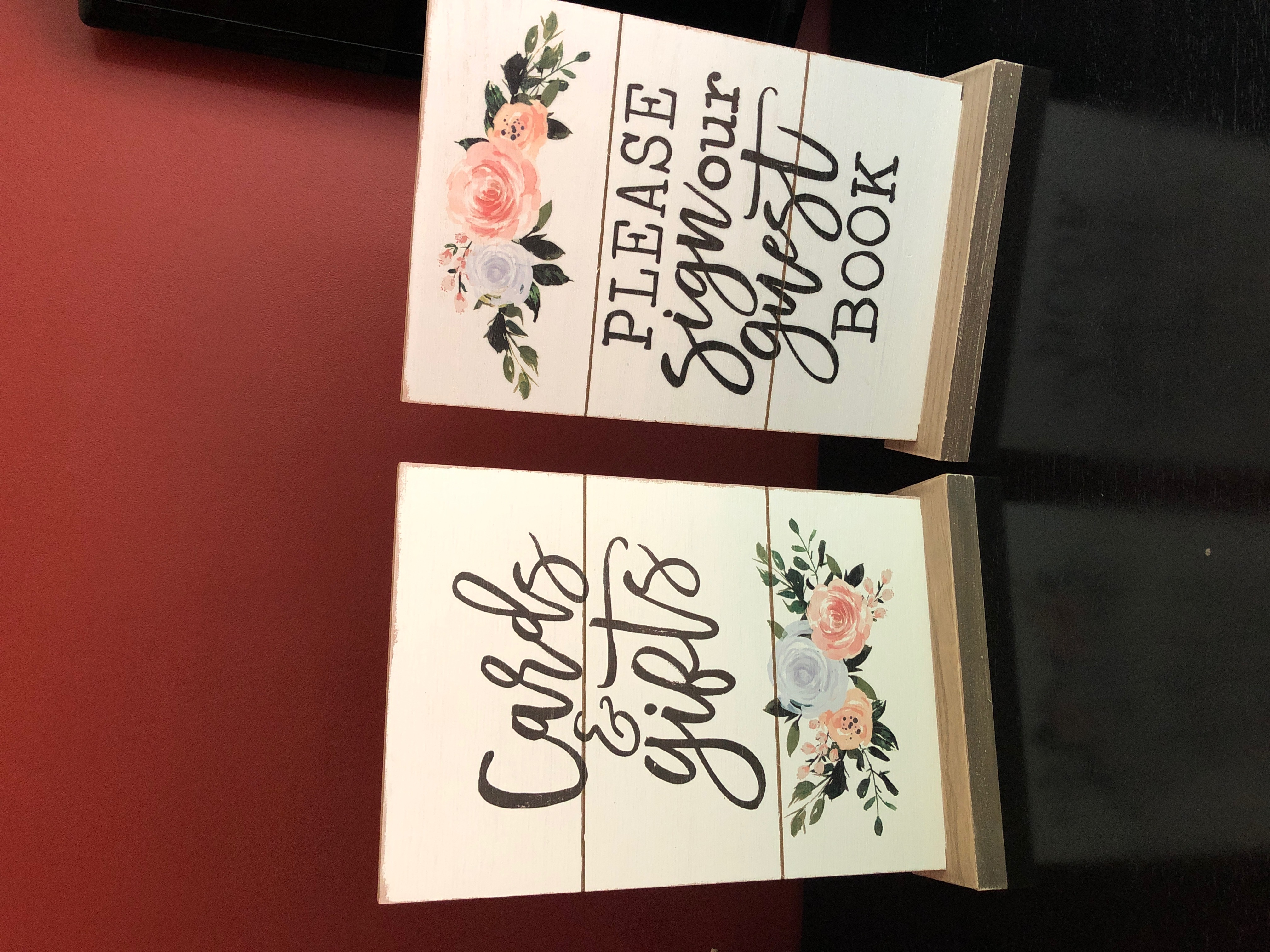 Gifts And Guestbook Signs