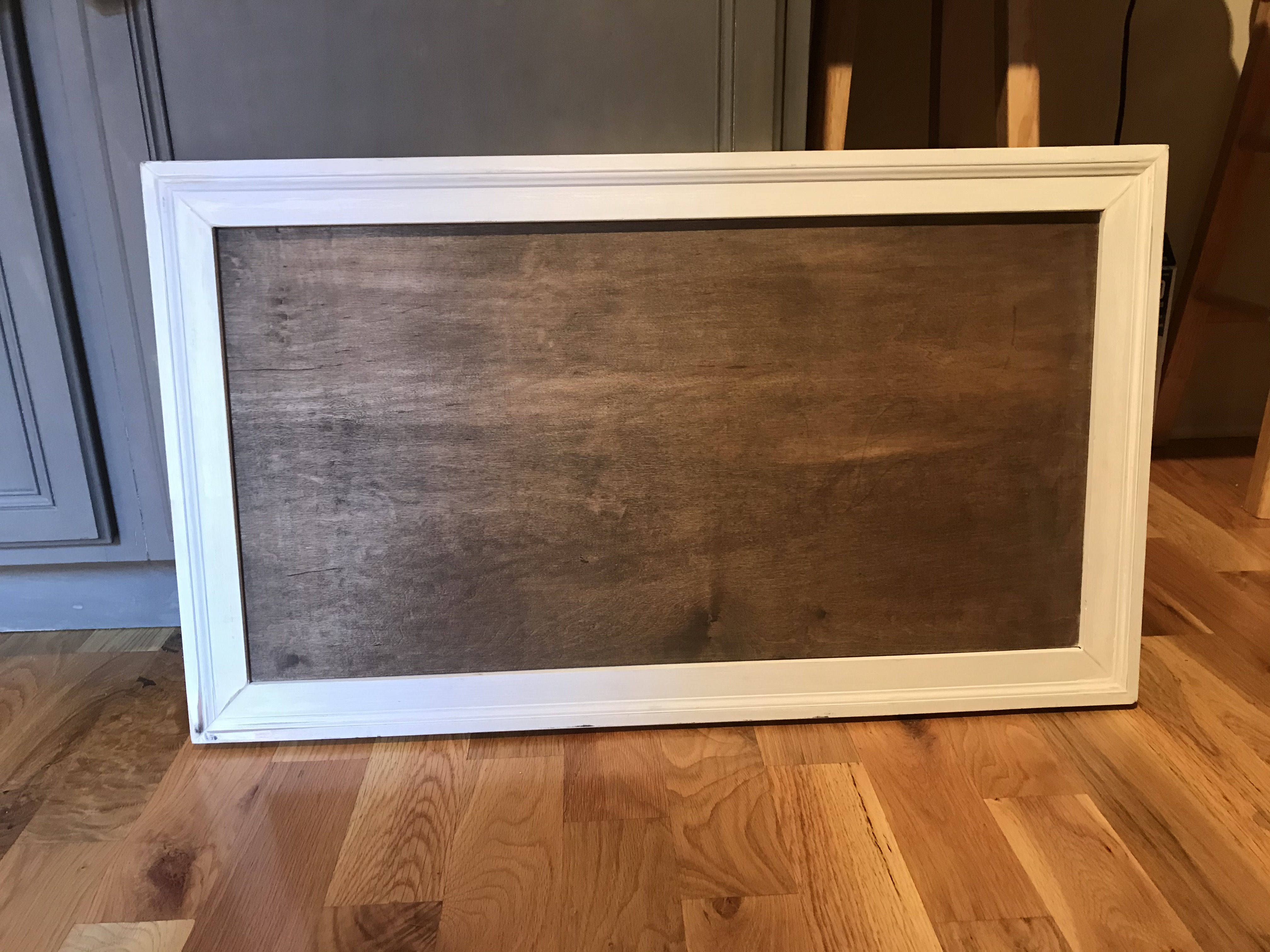 White Framed Wooden Board For Diy Sign