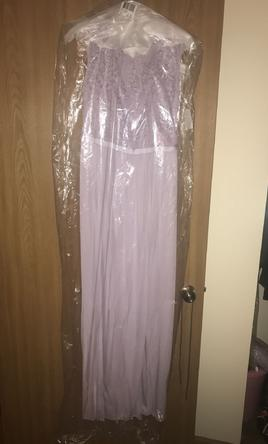 David's Bridal - Iris Cap Sleeve Floor Length Dress