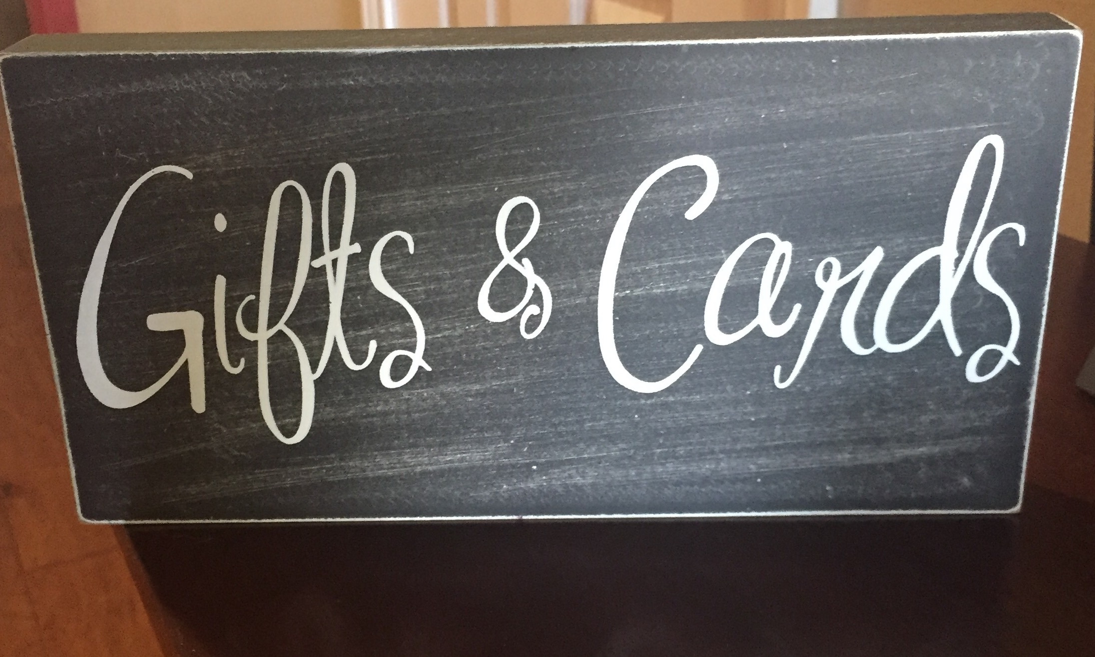 Gifts And Card Sign