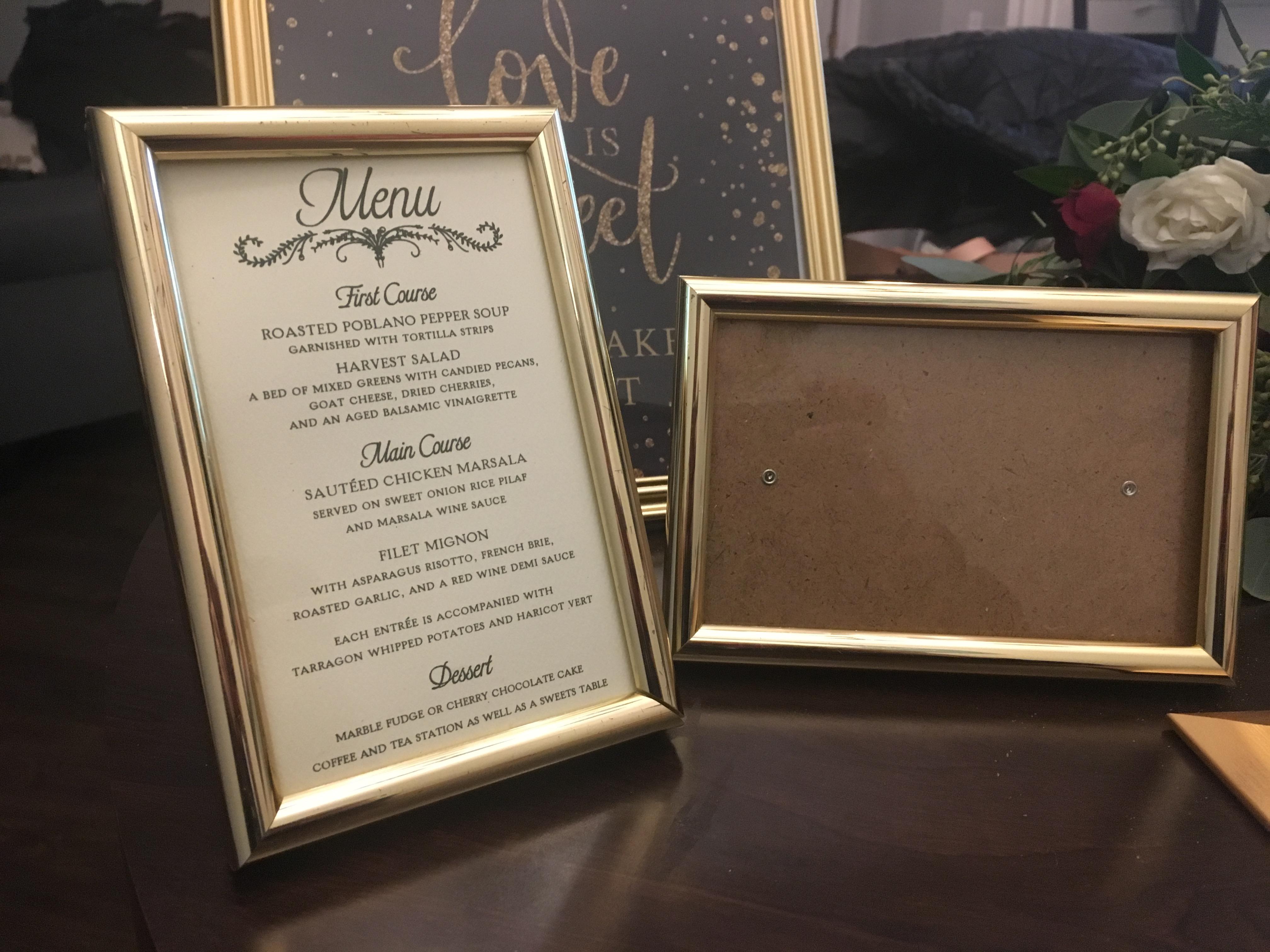 30 4x6 Gold Frames Wedding Decoration Bravobride