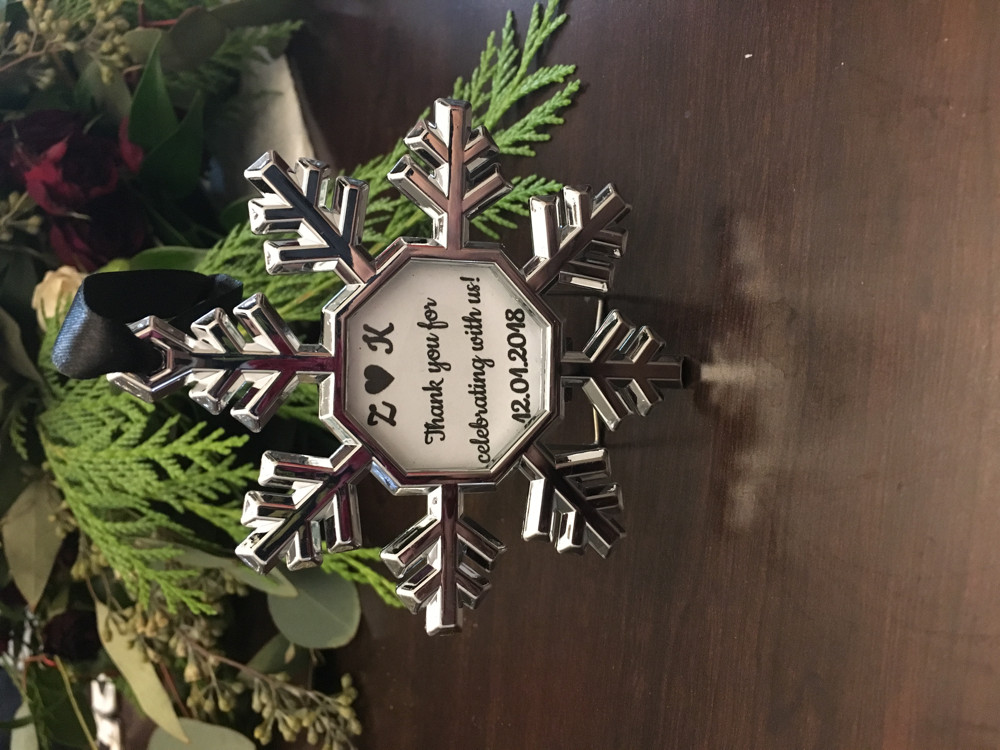 Snowflake Ornament Picture Frame
