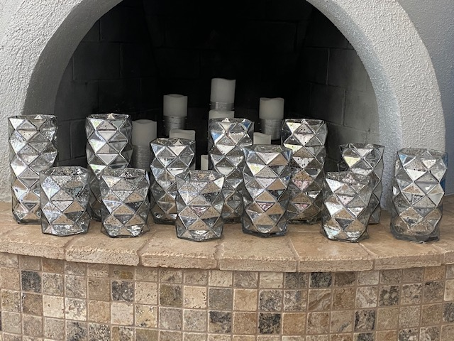 Silver Hurricane Candle Holders (12 Count)