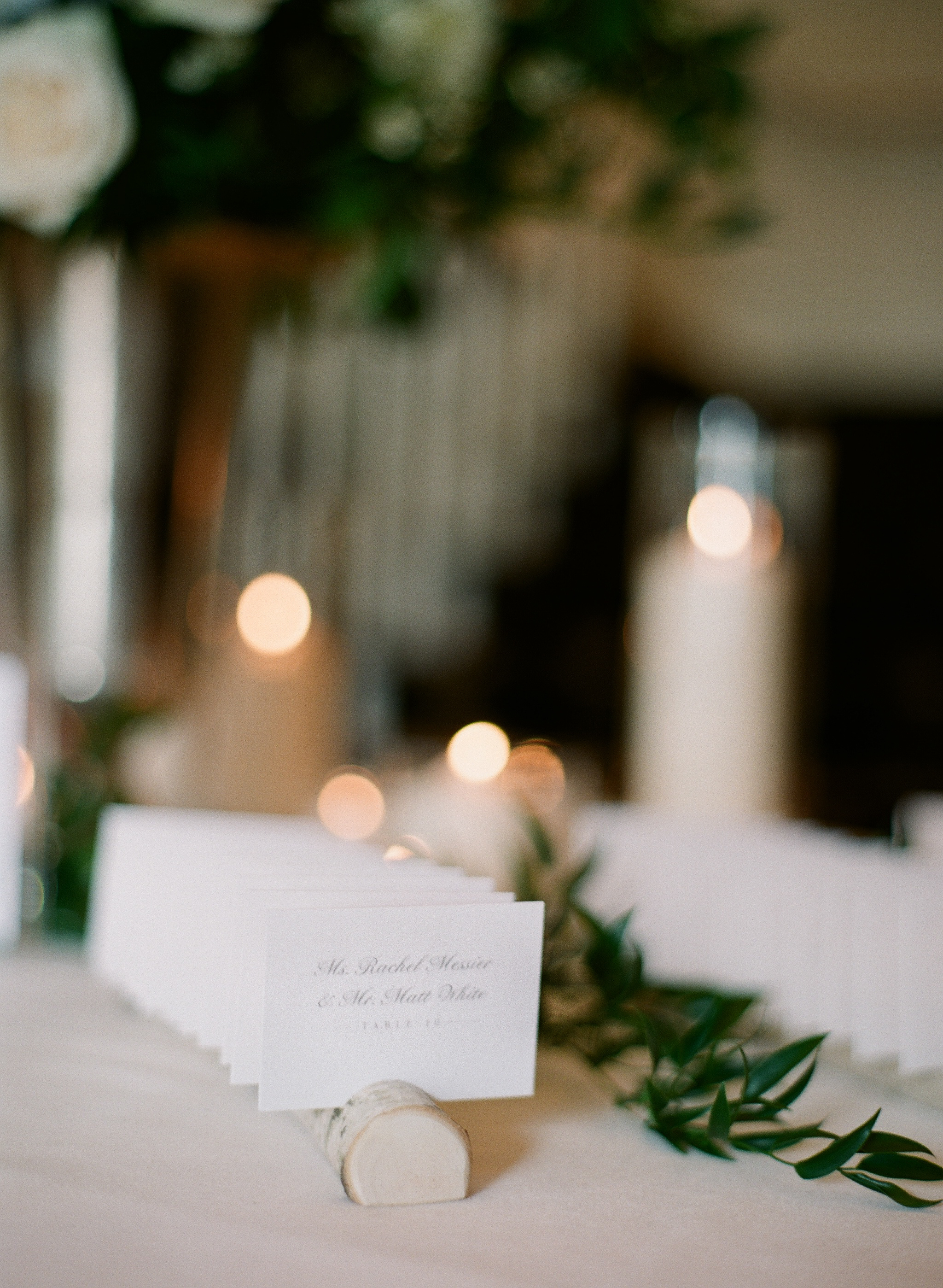 7 Birch Branches With 11 Openings For Place Cards