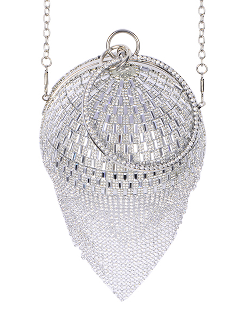 New Rhinestone Ball Formal Hand Bag