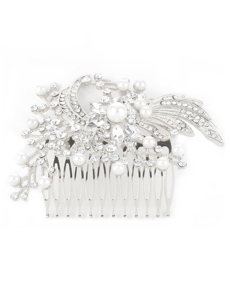 **flash Sale** New Pearl Glass Stone Hair Comb