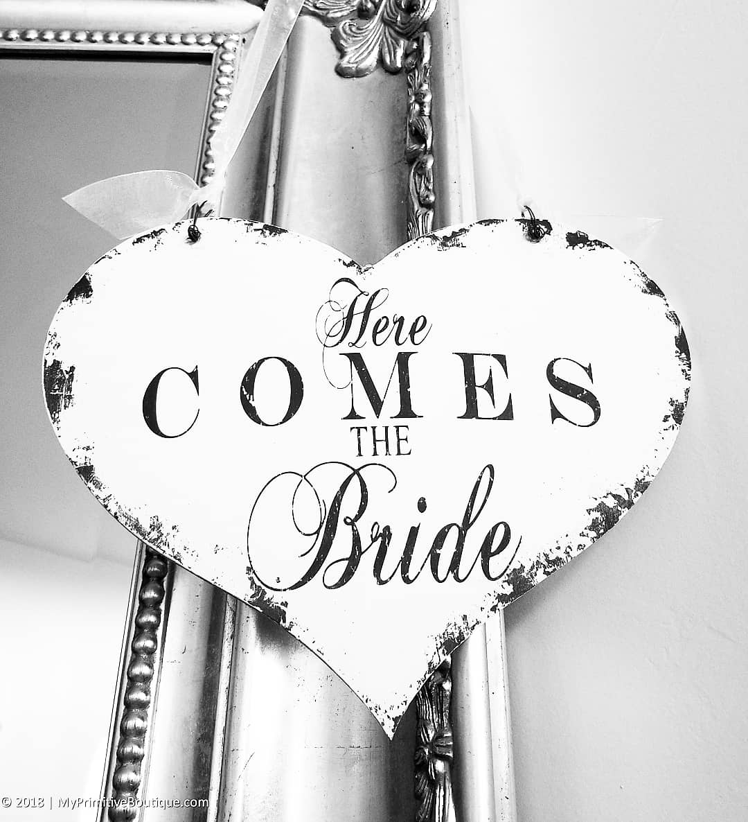 Here Comes The Bride Wedding Sign For Ring Bearers & Flower Girls | Rbfg-06