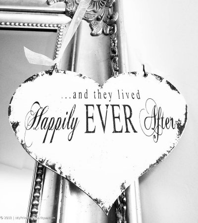 And They Lived Happily Ever After Wedding Sign For Ring Bearers & Flower Girls | Rbfg-07