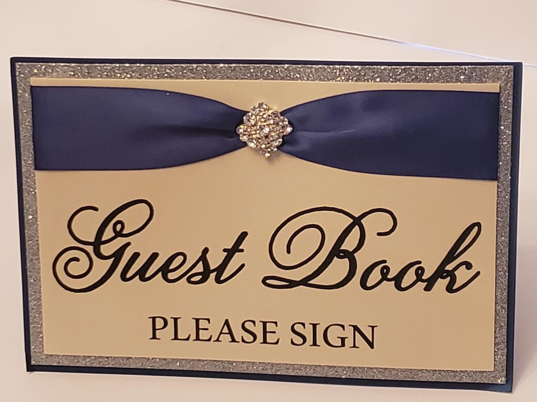 Navy And Silver Signs