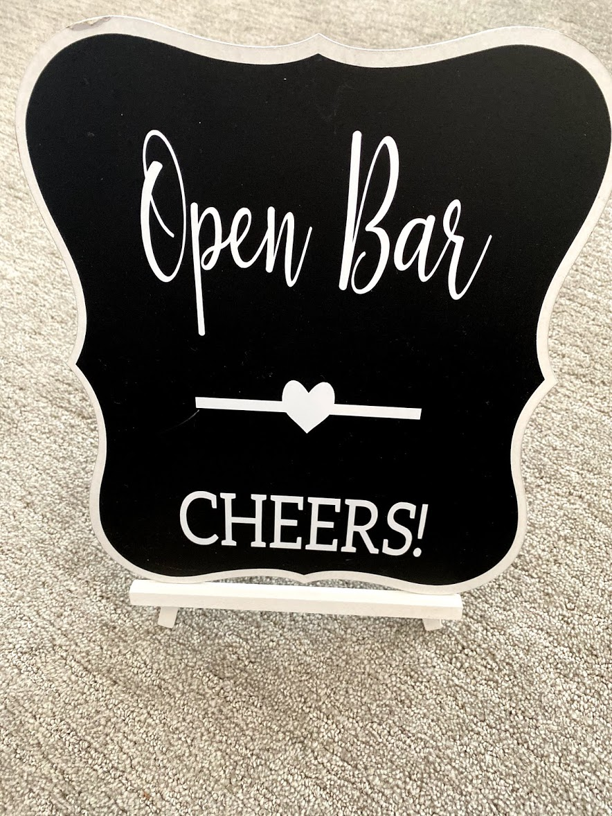Open Bar Wedding Sign
