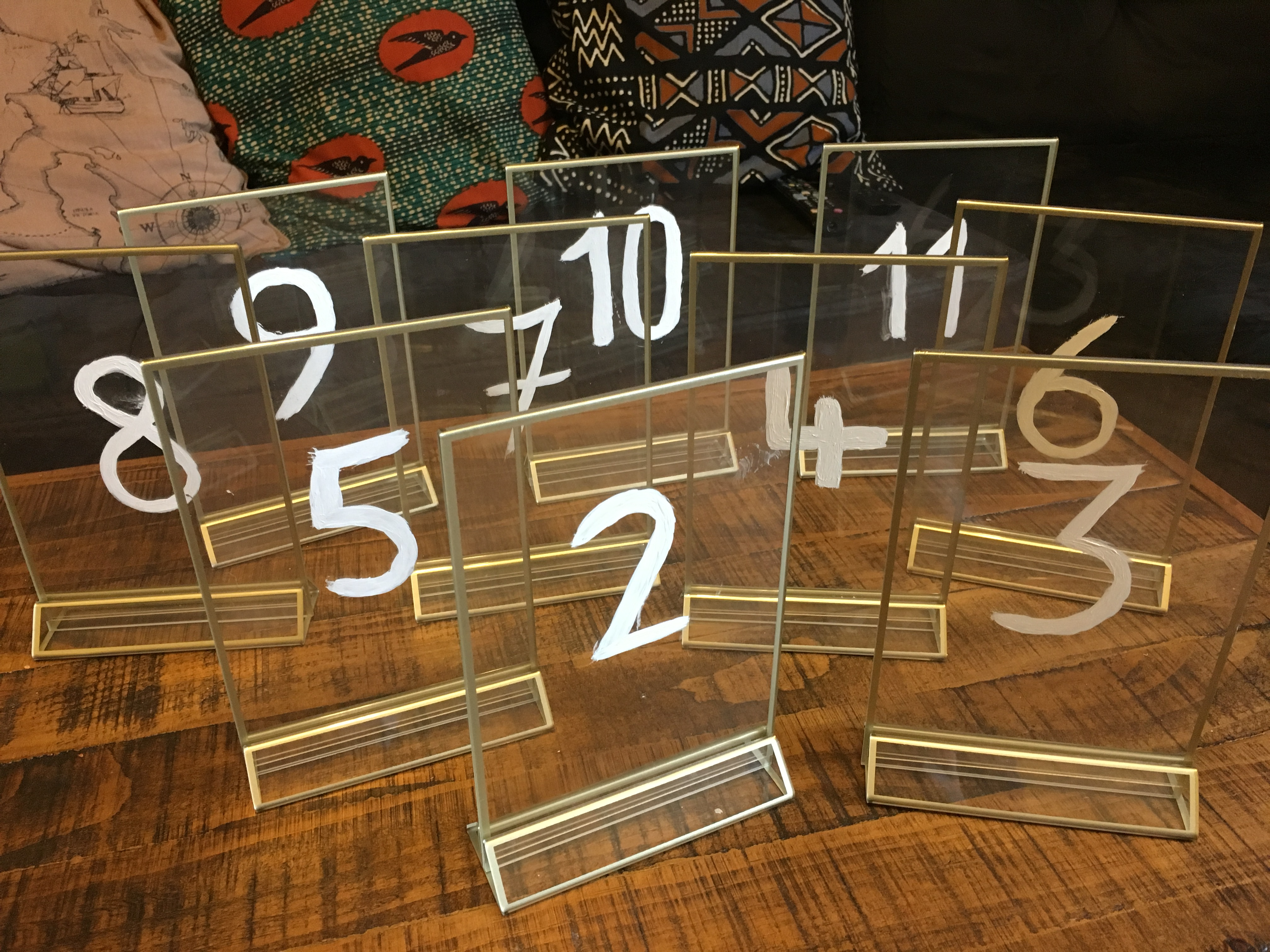 Table Numbers On Clear Frame (2-11)
