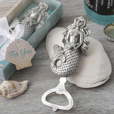 New 35 Mermaid Bottle Openers In Gift Box - Lot Of 35 Nautical Beach