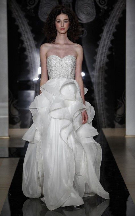 Reem Acra Tianna Wedding Dress | Size: 8 | Bridal Gown | BravoBride
