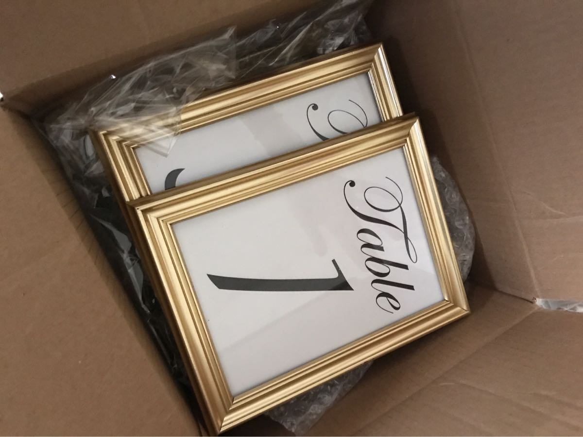 Table Numbers With Gold Frames