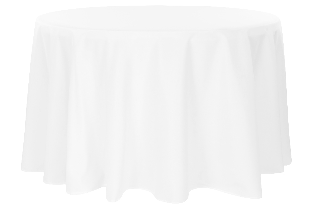White Round Tablecloths (120