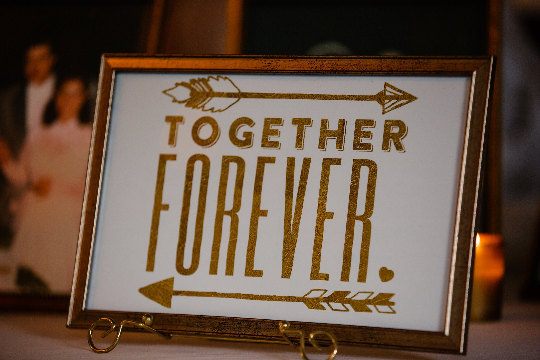 Together Forever Gold Frame