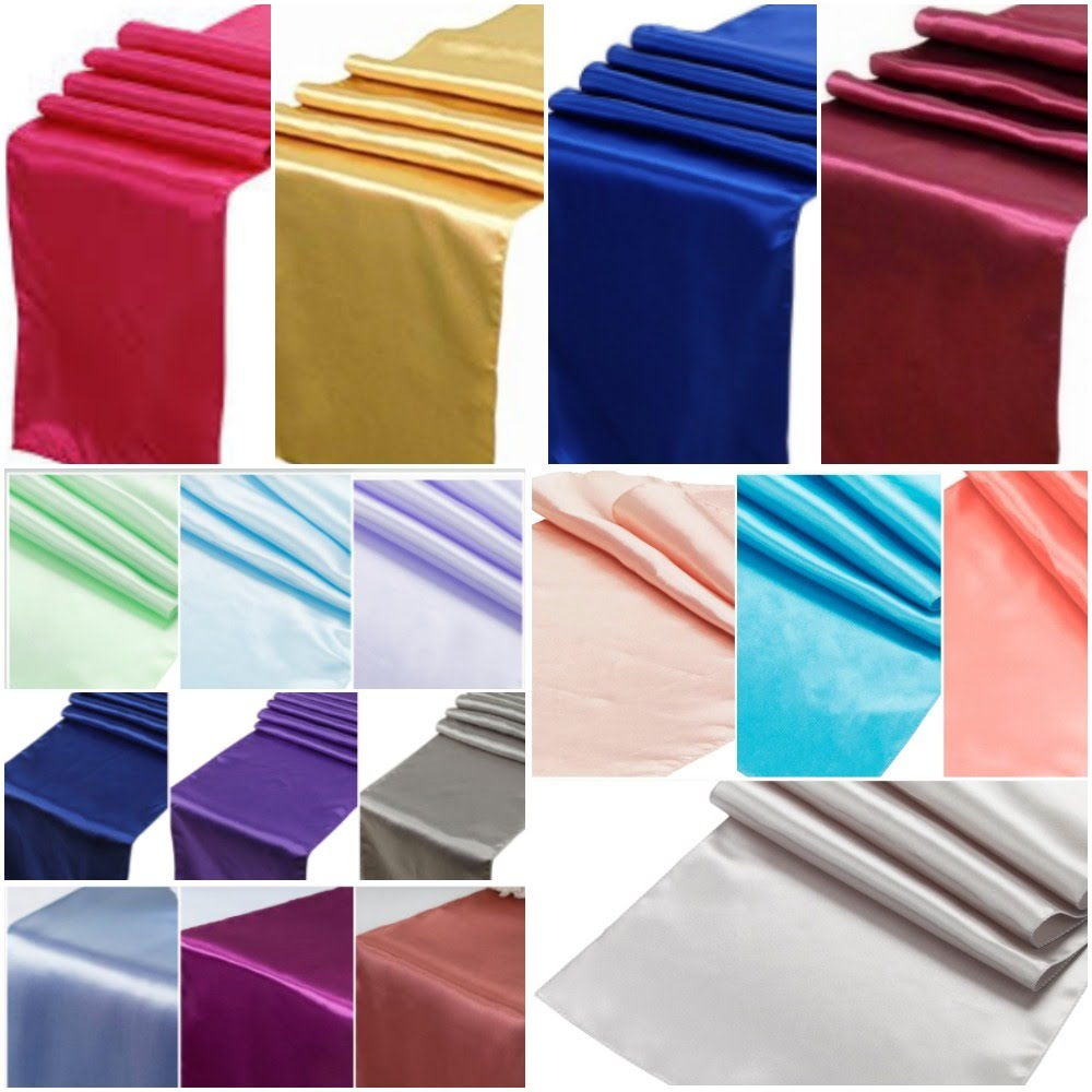 New! Satin Table Runners
