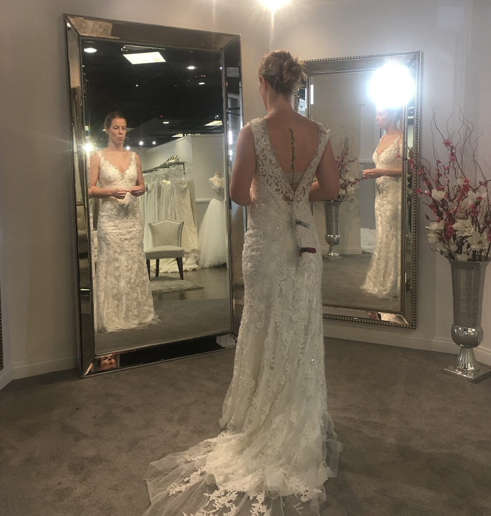 Madison James Sheath Wedding Gown