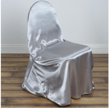 Sliver Satin Chair Covers