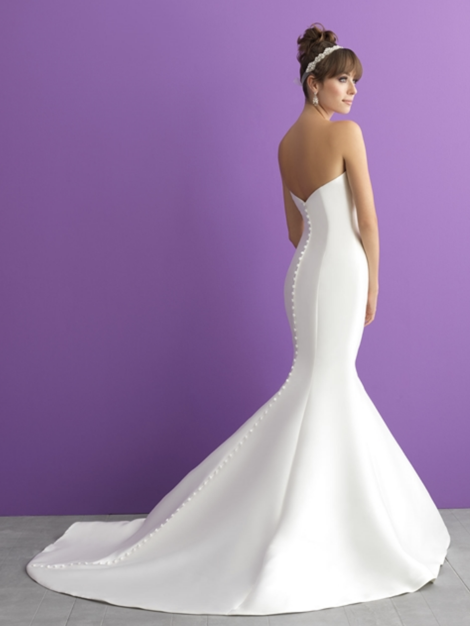 fa81da6d992 Allure Romance Classic Bridal Mermaid Gown With Bling