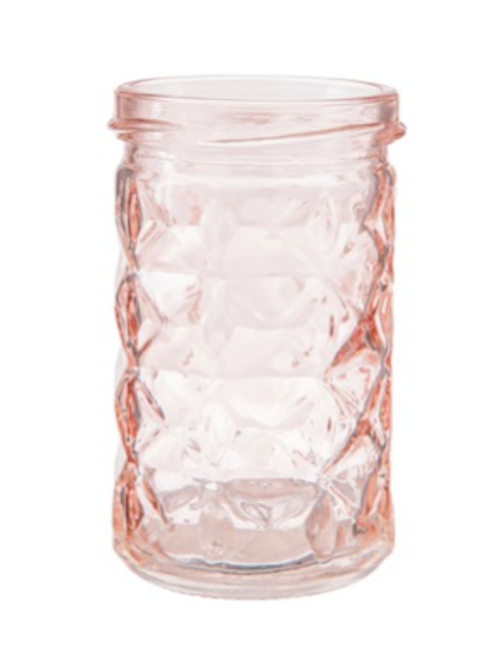 (20) Mini Pink Mason Jars - Candle Holders